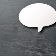 Bulle de conversation. Post-it