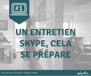 Entretien vidéo - Conseils pour réussir entretien Skype